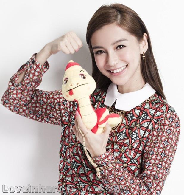 杨颖  angelababy 圣诞 图