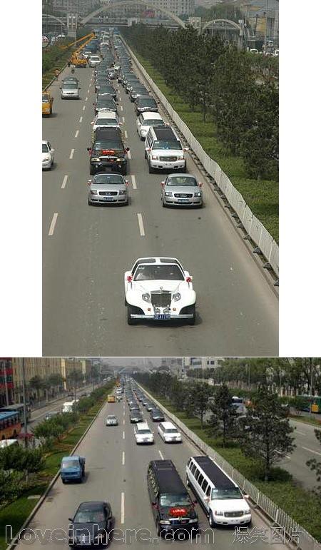 哈尔滨的超豪华结婚车队